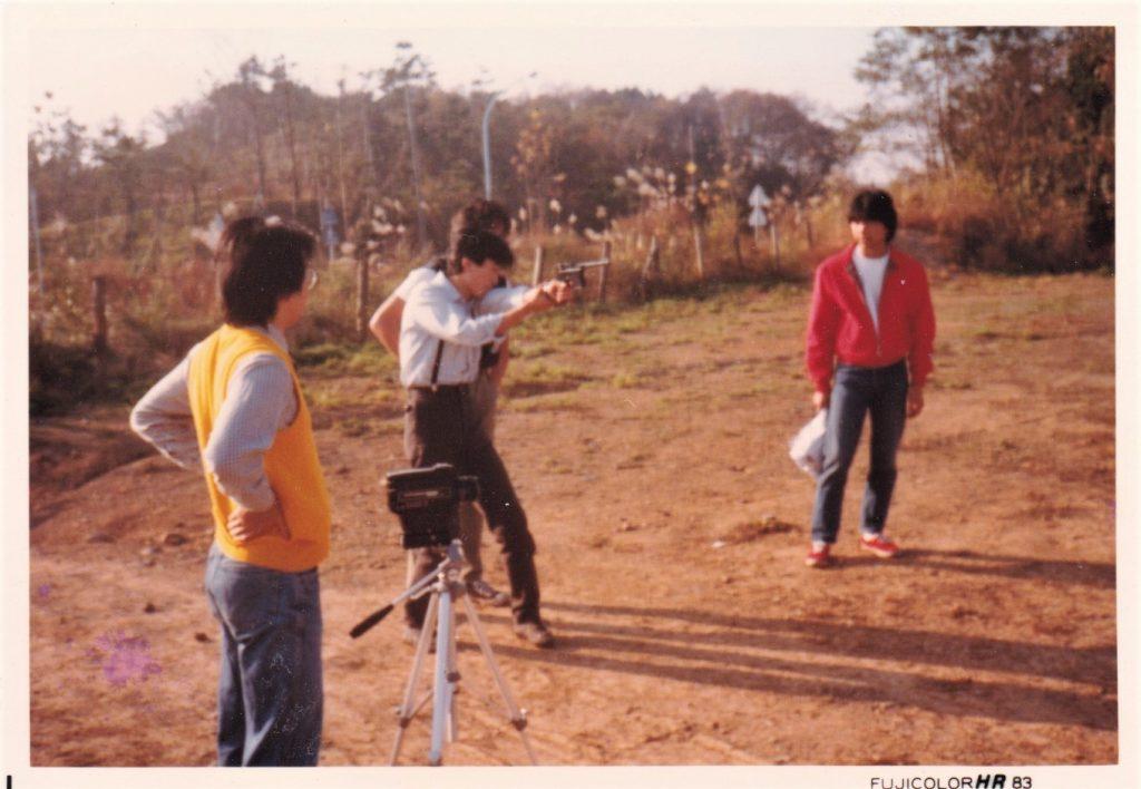 大学時代の撮影風景